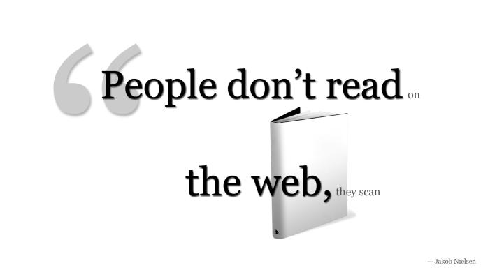 Come si legge sul web: l'esplorazione del testo